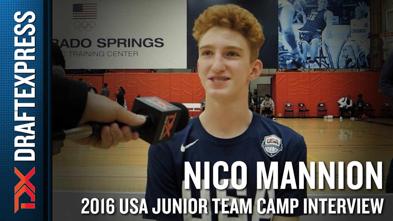 Nico Mannion Interview at USA ...