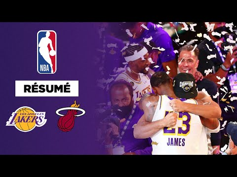 Résumé NBA VF long format : Les Lakers de LeBron James remportent leur 17ème titre face au Heat