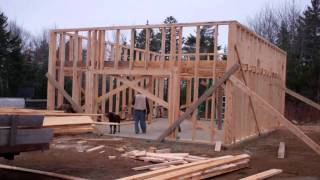 Garage Build ... Day 4 ....framing Up The Walls
