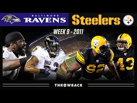 [NFL Throwback] An Elite Rivalry Matchup to Decide 1st Place (Ravens at Steelers, 2011 Week 9)