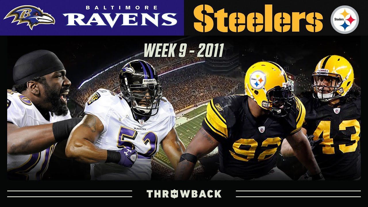 ELITE Rivalry Matchup to Decide 1st Place! (Ravens vs. Steelers 2011, Week 9)