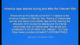 """American rape culture"" America rape desires in Vietnam War"