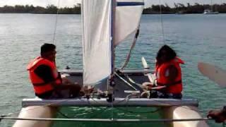 Haniff first-time sailing on Dart 16 Catamaran