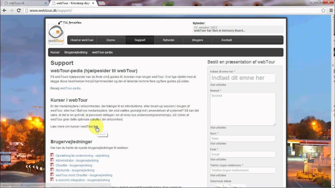webTour.dk - login første gang - YouTube