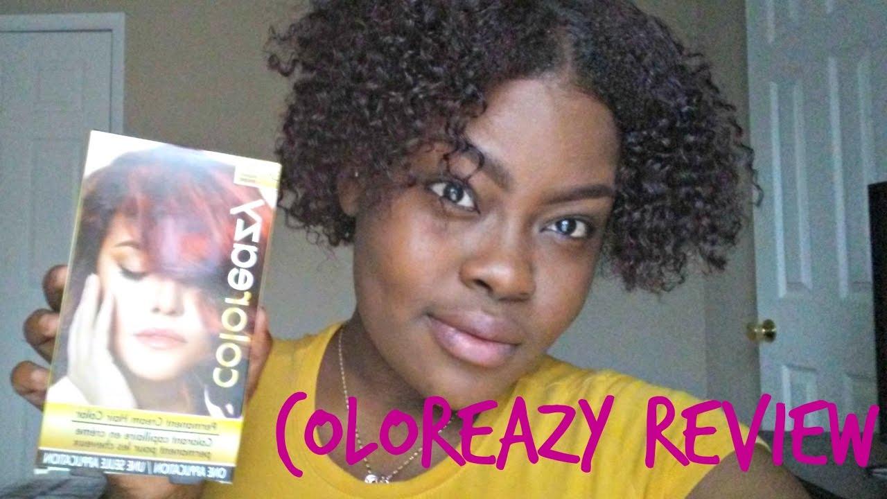 Coloreazy Medium Auburn Tutiorial Review Dollar Tree Hair Dye