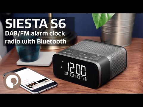 Pure Siesta S6 - Premium DAB+/FM alarm clock radio with Bluetooth
