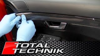 How to Remove Replace Door Card Panel Trim - Audi A4 S4 RS4 - B6 B7 - TOTAL TECHNIK