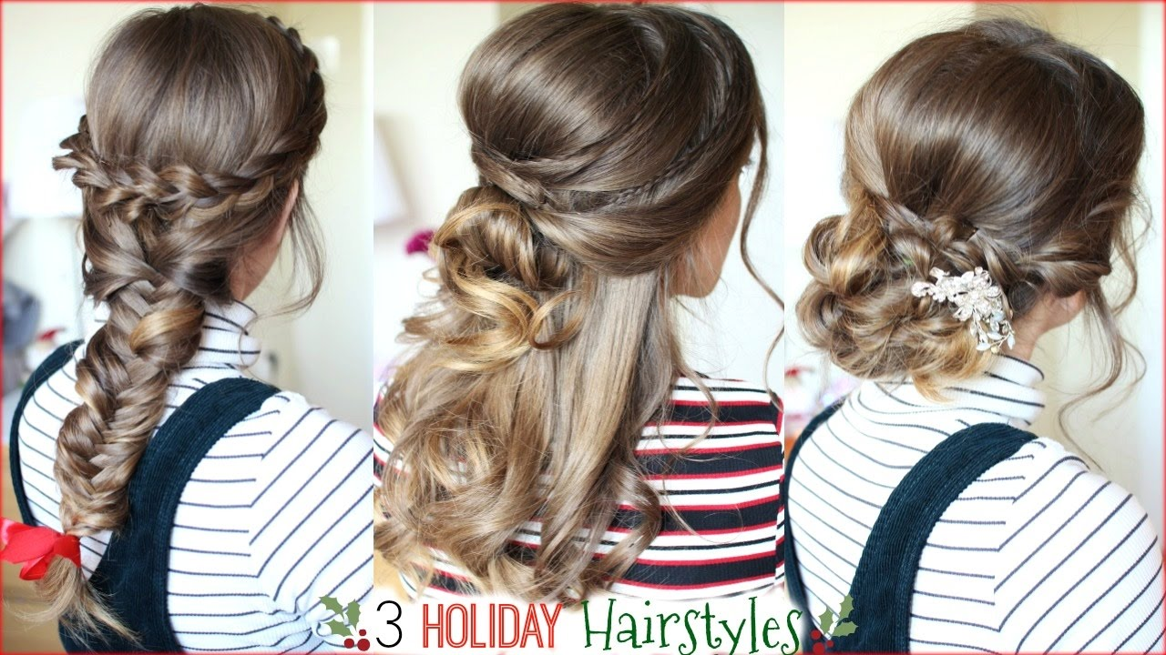Christmas Hairstyles For Long Hair.3 Holiday Hairstyles Christmas Hairstyles Braidsandstyles12