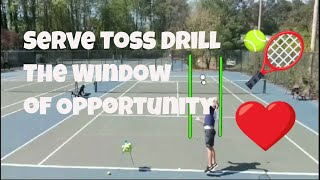 Tennis Serve: Eliminate Bad Serve Tosses with This