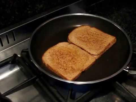 Bread Toast On Pan In English