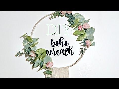 DIY BOHO WREATH // WALL HANGING