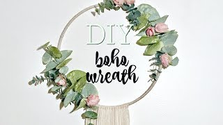 DIY BOHO WREATH // WALL HANGING