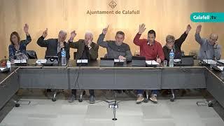 Ajuntament de Calafell: Sessió plenària ordinària, 1 d'abril de 2019