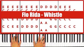 ♫ ORIGINAL+VOCAL - How To Play Whistle Flo Rida Piano Tutorial Lesson - PGN Piano