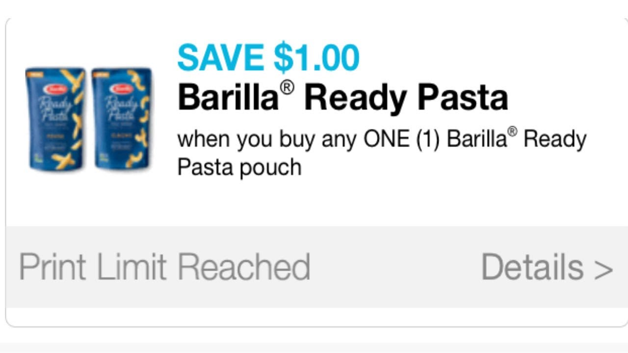 image about Barilla Printable Coupons named Very hot printable coupon codes -- $1 Barilla $2 Tide!!!!!!