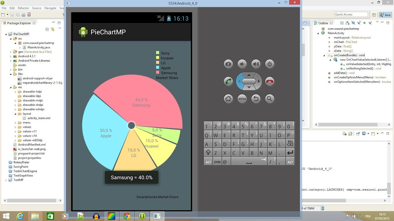 Android learn how to create a pie chart graph with mpandroidchart android learn how to create a pie chart graph with mpandroidchart youtube nvjuhfo Gallery