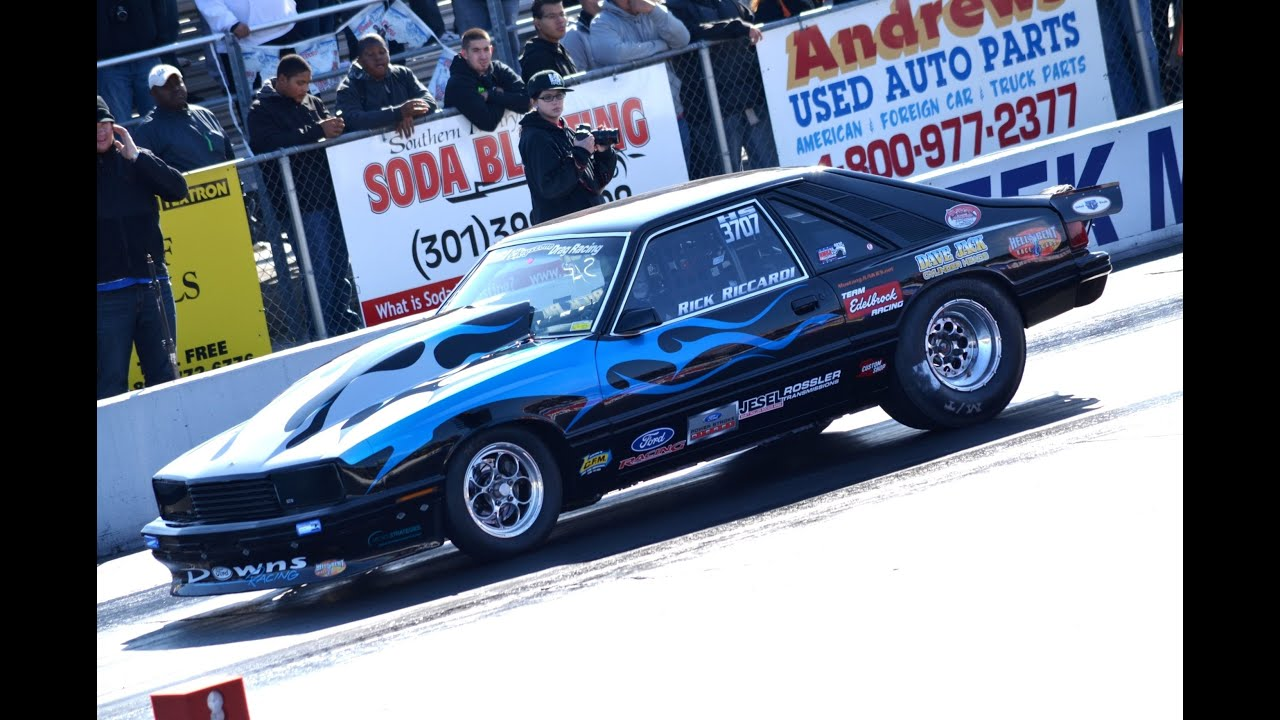 Low 8 second ALL Motor 1981 Ford Capri Drag Race - Rick Riccardi ...