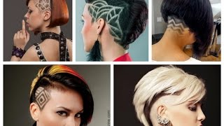 50 Undercut Hairstyles with Hair Tattoos for Women