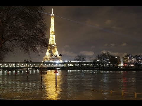 Париж превратился в озеро! Музеи спасают экспонаты. Франция  январь 2018.Что произошло в мире.