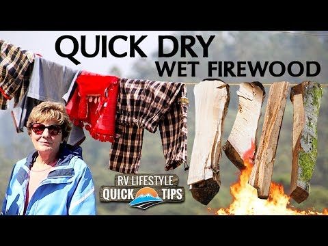 Bushcraft 101: How To Dry Wet Firewood The EASY Way  RV Quick Tip