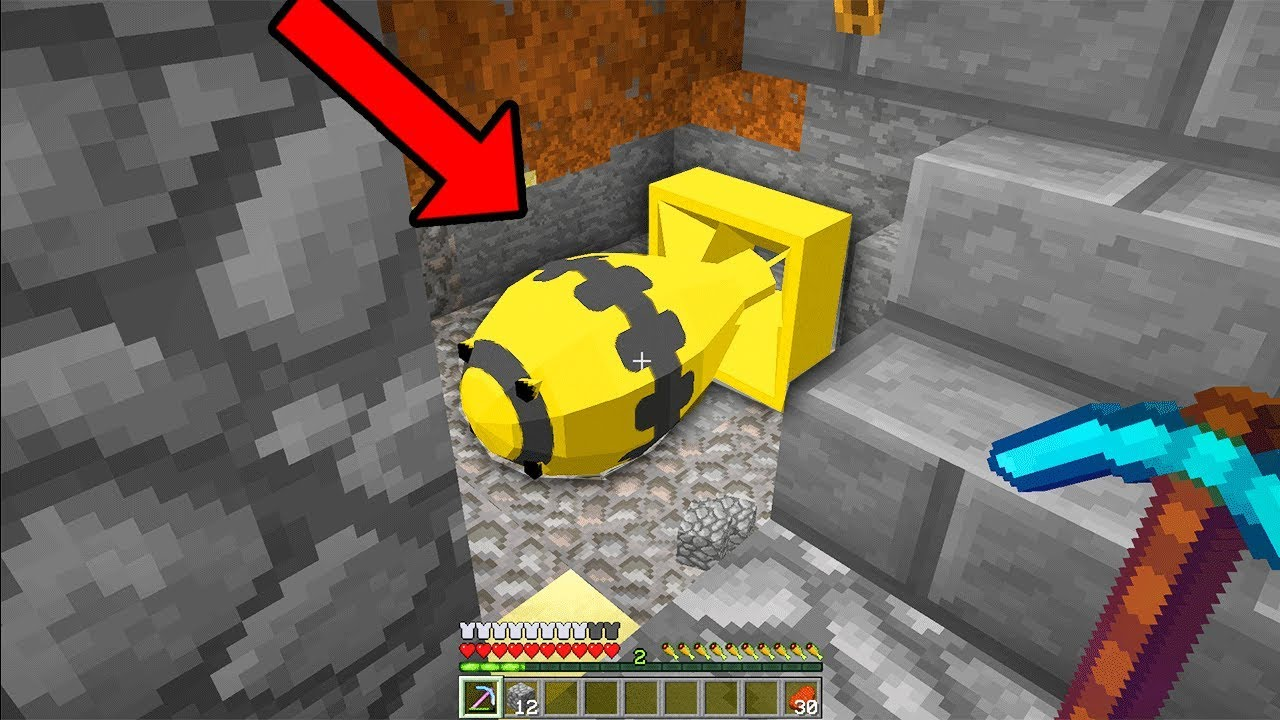 someone broke into my Minecraft base and planted a secret BOMB  I FOUND IT!