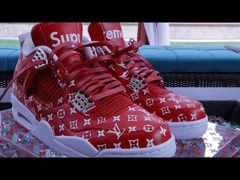 HOW TO: Supreme X Louis Vuitton Custom Shoe Tutorial DIY - YouTube