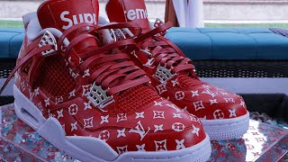 HOW TO: Supreme X Louis Vuitton Custom Shoe Tutorial DIY