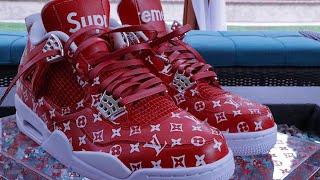 How To: Supreme X Louis Vuitton Custom Shoe Tutorial Diy