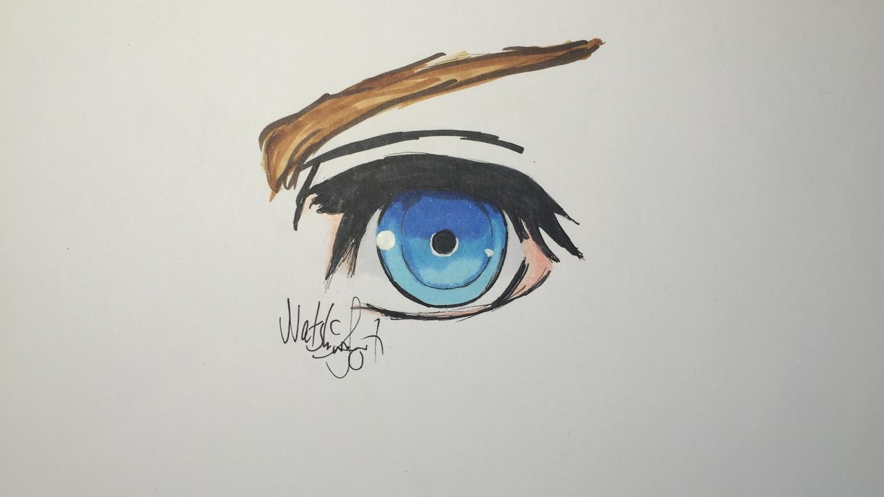 How To Draw A Kingdomhearts Eye Easy Youtube