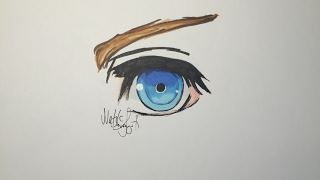 How to draw a Kingdomhearts eye easy