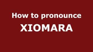 How to Pronounce XIOMARA in Spanish - PronounceNames.com