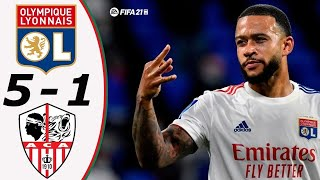 Лион Аяччо 5 1 Обзор Матча 1 32 Финала Кубок Франции 09 02 2021 HD