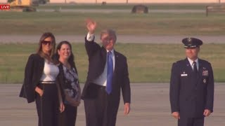 MAGANIFICENT: President Donald Trump & Melania Trump Departure to Paris, Bastille Day, Air Force One