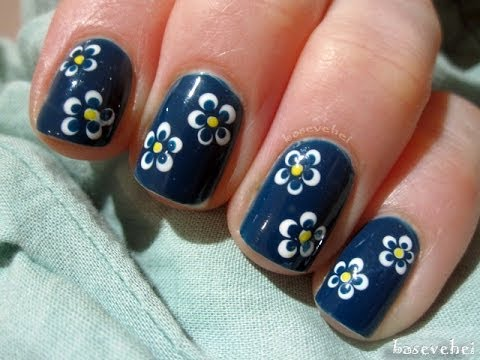 Little Flowers Using Dotting Tool Małe Kwiatki Basevehei