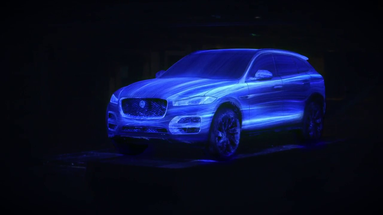 jaguar f pace see design in a new light youtube. Black Bedroom Furniture Sets. Home Design Ideas