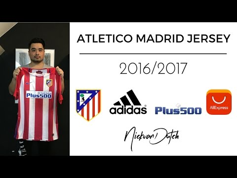 official photos 5c2ca c023c Atletico Madrid Jersey 2016/2017 Aliexpress Unboxing and ...