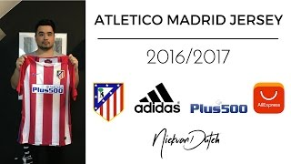 Atletico Madrid Jersey 2016/2017 Aliexpress Unboxing and review Nike Football shirt