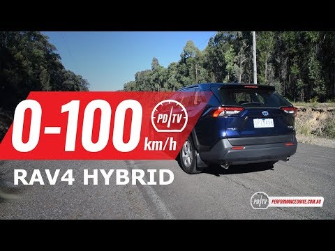 2019 Toyota RAV4 Hybrid 0-100km/h & Engine Sound