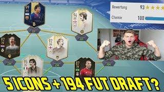 Ist das 194 Rated Fut Draft überhaupt möglich? 5 ICONS + 2 TOTYS! - Fifa 19 Ultimate Team