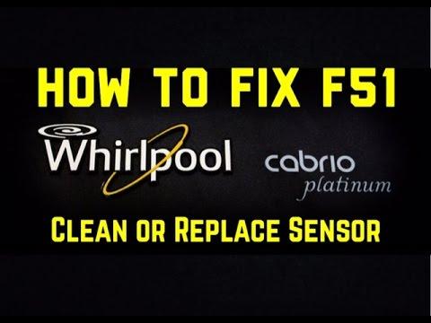 F51 Whirlpool Cabrio Repair - F51 Whirlpool Fixed - Error Code F51 - Rotor  Position Sensor