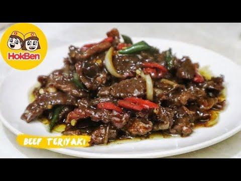 Resep Beef Teriyaki Ala Hokben Masakan Daging Sapi Terenak Youtube