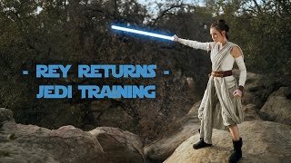 rey returns jedi training