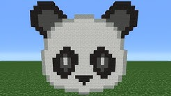 Minecraft Tutorial: How To Make The Panda Emoji