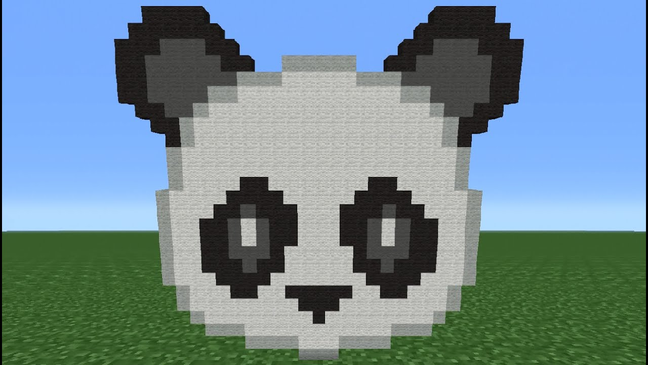 Minecraft Tutorial How To Make The Panda Emoji