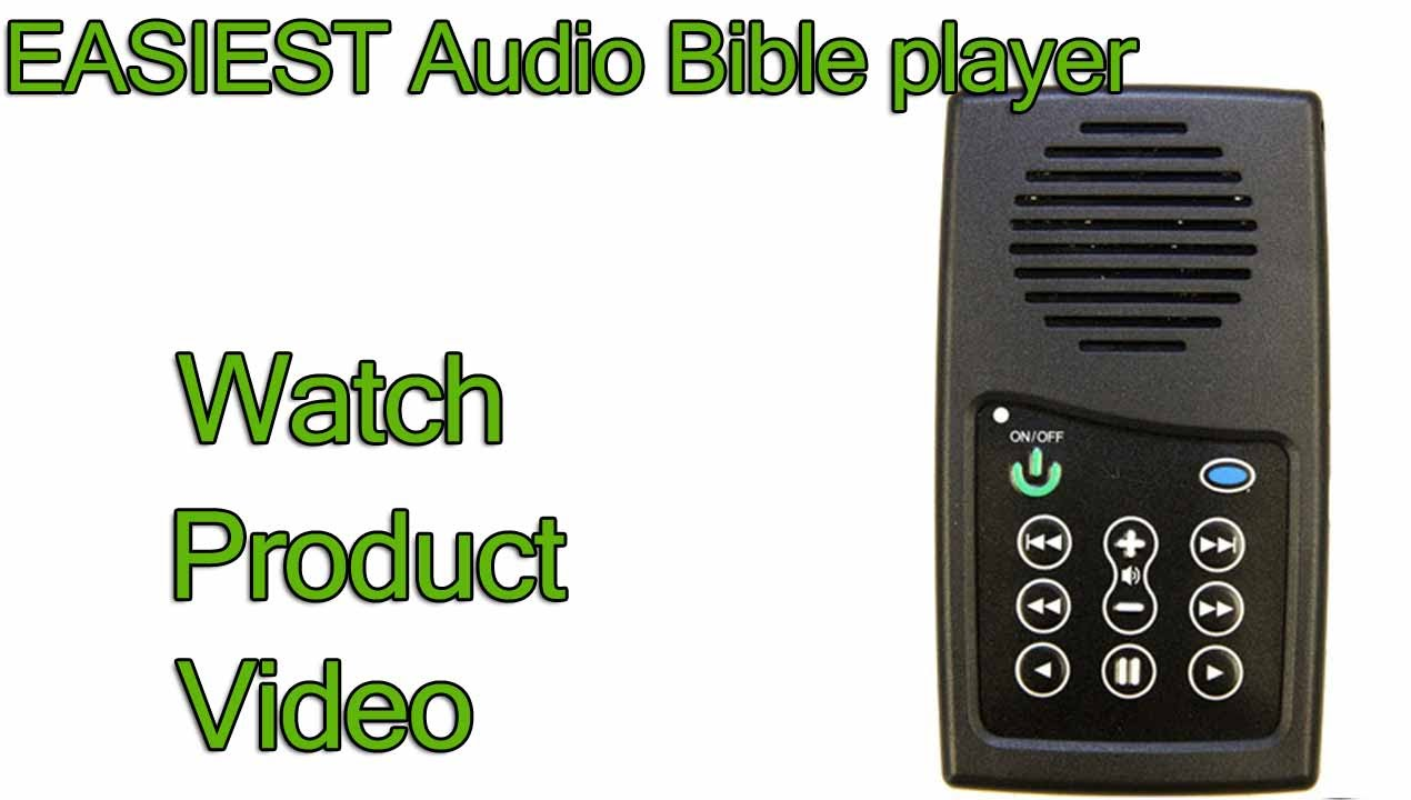 Electronic Bible Audio Player, Easy & simple to use