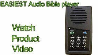 Easiest to use Audio Bible player
