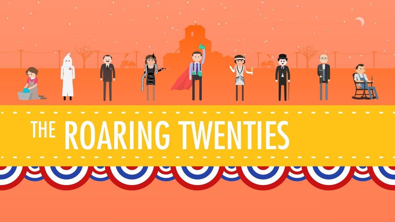 The Roaring 20's: Crash Course US History #32 - YouTube [ 720 x 1280 Pixel ]