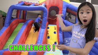 Pretend Play GIANT BOUNCE HOUSE Extreme Challenge
