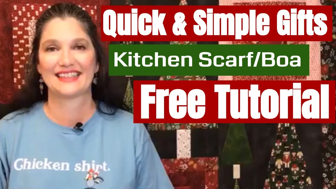 Quick & Simple Gifts - Kitchen Scarf/Boa, no pattern needed