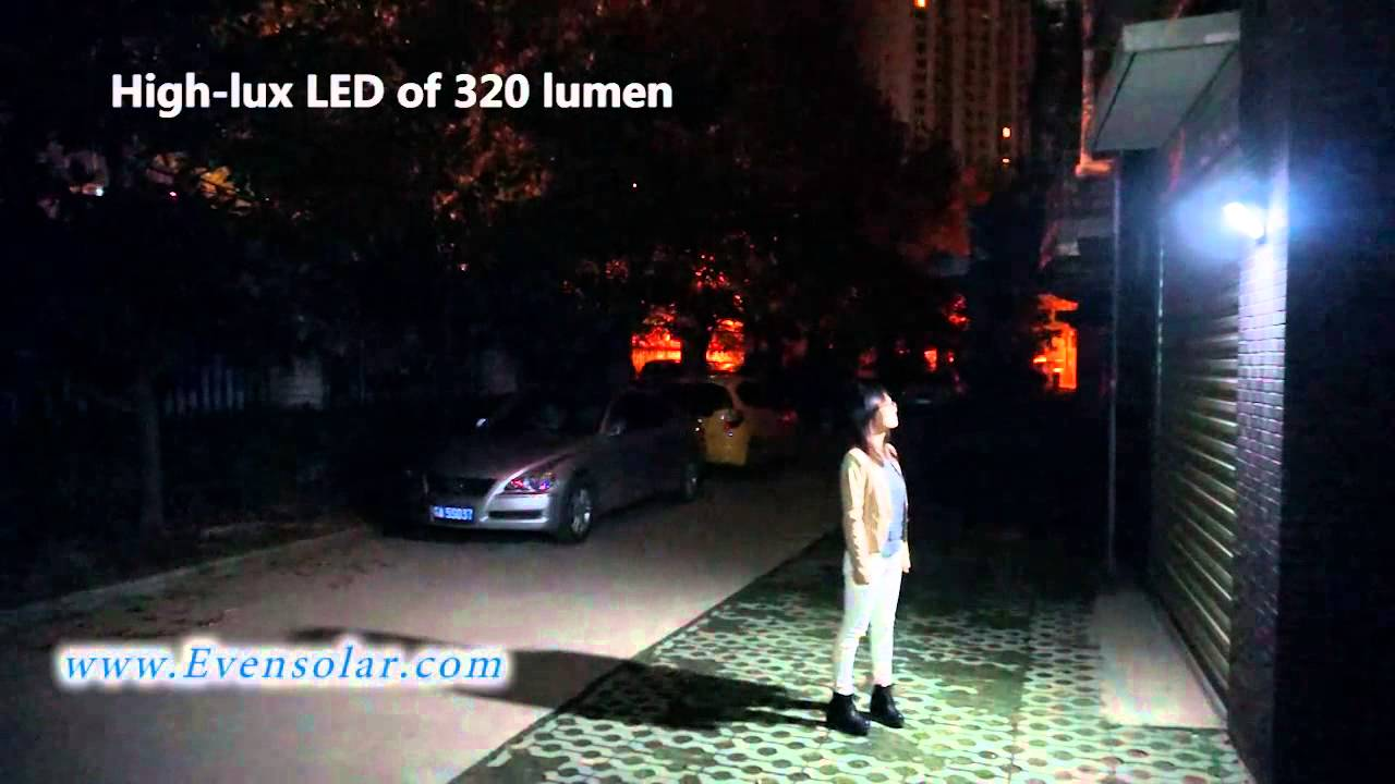 High lumen solar motion sensor security lightsl 1140 youtube aloadofball